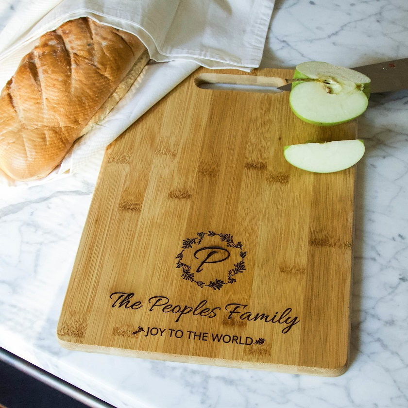 Personalized Joy to the World Cutting Board