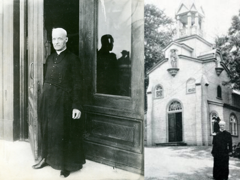 St. Andre - Faithful Doorkeeper & Andre with original Oratory chapel