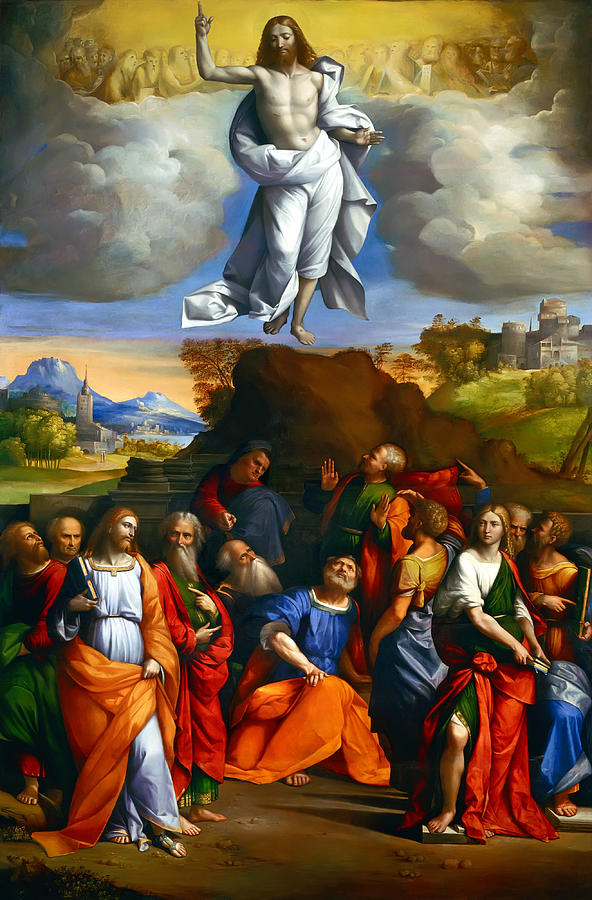 The Ascension of Christ by Benvenuto Tisi (or Il Garofalo), c. 1510