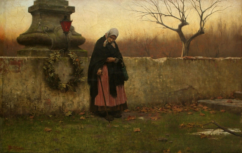 All Souls Day by Jakub Schikaneder