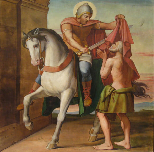 The Charity of St. Martin by Louis Anselme Longa
