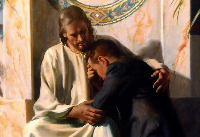 Christ embraces us in Confession